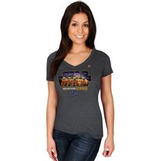 Milwaukee Brewers Majestic Women's 2015 Star Wars Day Stadium T-Shirt - Charcoal - $21.99