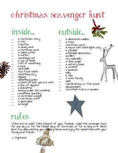 Christmas scavenger hunt! Fun way to hang out with your small group.