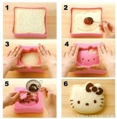 hellokitty shape sandwich http://item.taobao.com/