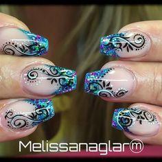 Nail art from the NAILS Magazine Nail Art Gallery, gel, Purple Nail Designs, Cool Nail Designs, Nail Polish Art, Nail Polish Designs, Easy Nail Art, Cool Nail Art, Great Nails, Cute Nails, Airbrush Nails