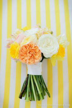 White, yellow, orange bouquet by Kickstand Events