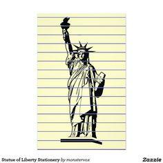 Statue of Liberty Stationery #StatueOfLiberty #Statue #NewYork #Liberty #Freedom #Refugee #Immigrant #Immigration #USA #Letterhead #Stationery