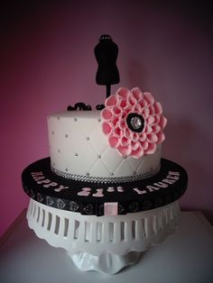 birthday cake was asked to create a 21st birthday cake for a girl ...