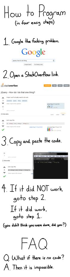 How to Program (in four easy steps)
