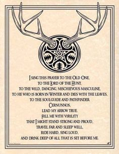 Horned Lord Book of Shadows Page or Poster Wicca Pagan Witchcraft picclick.com