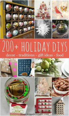 200+ Holiday DIY Ideas for Christmas @Remodelaholic