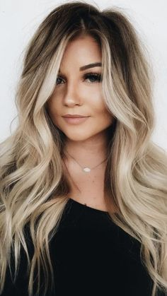 dark roots blonde waves