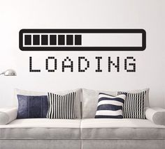 Loading Bar wall decal vinyl sticker by SunshineStickers4you