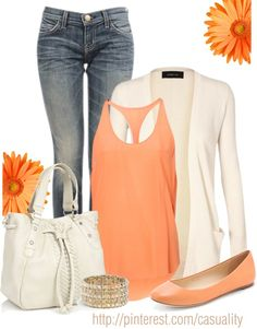 "wadulifashions.com - ""Peach & Denim"" by casuality on Polyvore"