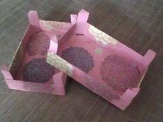 Cajas de fresas decoradas.