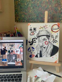 Taehyung Fanart, Images Gif, Bts Merch, Bts Drawings, Bts Chibi, Art Reference Poses, Kpop Fanart, Up Girl, Wallpaper