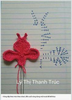Best 12 Orchid, Moth (Phal) pattern by Happy Patty Crochet Poppy Crochet, Crochet Butterfly, Crochet Flower Patterns, Applique Patterns, Amigurumi Patterns, Knitting Patterns Free, Crochet Flowers, Crochet Bouquet, Crochet Brooch