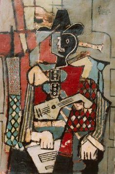 Pablo Picasso, 1918 Arlequin  on ArtStack #pablo-picasso #art