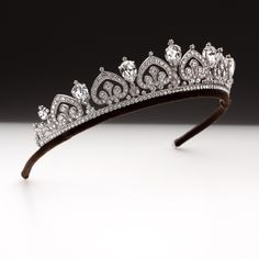 Pear shape and palmette scroll tiara. | Andrew Prince Jewellery