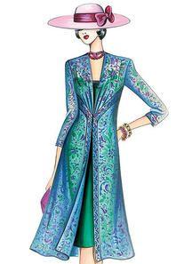 Marfy Patterns, Mccalls Sewing Patterns, Vogue Patterns, Dress Patterns, Fashion Illustration Dresses, Fashion Sketches, Diy Clothing, Clothing Patterns, Illustration Mode
