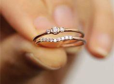 Wedding Ring Images, Small Wedding Rings, Minimalist Wedding Rings, Dainty Engagement Rings, White Gold Wedding Rings, Wedding Rings For Women, White Gold Rings, Rose Gold Rings, Small Rings