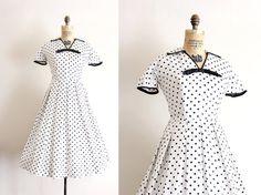 vintage 1950s dress TrunkofDresses
