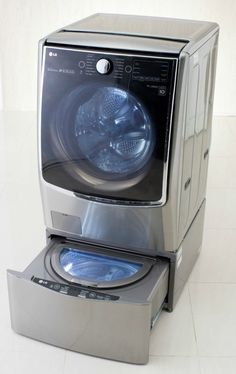 The LG Twin Was System fits into the pedestal of front loading washers, but doesn't require any fancy hardware to connect and install. The LG Twin Wash System is perfect for specialized loads like lingerie, quick loads like sports uniforms, or for washing clothes that don't ever make up a full load.