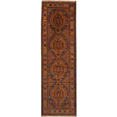 Herat Oriental Afghan Hand-knotted Tribal Balouchi Wool Runner