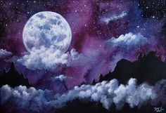 """""""Moonscape ~ available to download on Patreon.com/themissfox ~ watercolor and gouache . #twitchcreative #art_collective #art_empire #paper #imaginationarts #socialmedia #worldofartists #photography #artistic #worldofpencils #drawing_feature #drawings #photooftheday #artsanity #artoftheday #artofvisuals #etsystore #fox #dailydrawoff #pencildrawing #patreon #artcollective #charcoaldrawing #disegno #art_lovrs #desenho #instadaily #instaartexplorer #creativeartiststudio #moon"""" by @themsfox…"""