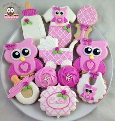 owl cookies (could skip the baby items to make them for other occasions)