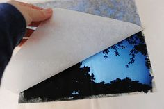 Photo canvas using iron on transfer paper