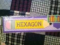 "1 Pkg Educational ""Shape"" Headliners Bulletin Board Set Teacher Daycaresm Etc | eBay"