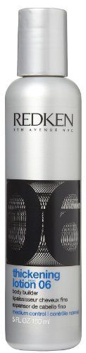 Thickening Lotion Redken 5 oz Lotion For Unisex by Thickening Lotion. $19.00. Salon Professional hair care product. 100% Genuine. Helps develop extra body, texture, volume & luster. Save 37%!