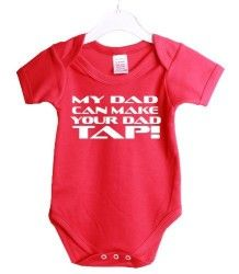 My Dad Can Make Your Dad Tap Mma Ufc Funny Babygrow Baby Shower Gift Suit 3/6 Months Red Vest White Print-3/6 Months Red-White Print #MMA #MARTIALARTS