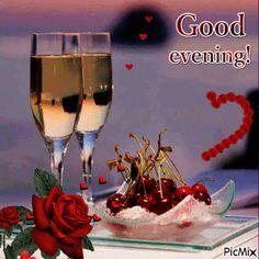 Foto animada Good Morning Handsome Quotes, Good Morning Coffee Gif, Romantic Good Morning Messages, Good Evening Messages, Good Evening Greetings, Good Evening Wishes, Good Night Gif, Good Night Image, Good Evening Photos