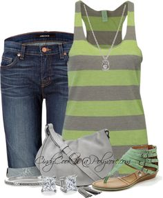 """Tank and Shorts"" by cindycook10 on Polyvore"