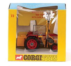A free online price / valuation guide for pre 1983 die cast model vehicles by Corgi Mettoy Massey Ferguson 165 Tractor with saw attachment