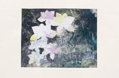 Abstract Orchids Monotype by CaritoArt on Etsy, $295.00
