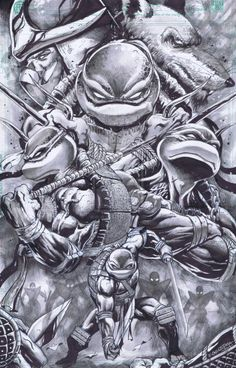 tmnt black and grey - Google Search