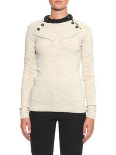 Fagan button-detail wool-blend sweater   Isabel Marant   MATCHESFASHION.COM