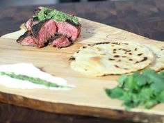 Grilled Skirt Steak with Homemade Corn Tortillas, Grilled Tomatillo Salsa, and Cilantro