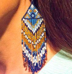 grosse graine perle boucles d'oreilles par HeartofSedonaPhotos