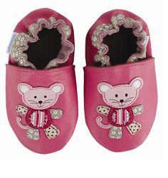 Robeez Soft Soles Mix & Match Mouse - azalea and Surfer Dude Monkey - light blue baby shoes