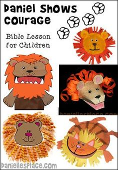 Daniel in the Lion's Den Crafts and Sunday School Lesson for Children from www.daniellesplace.com - Free Sunday School Lesson