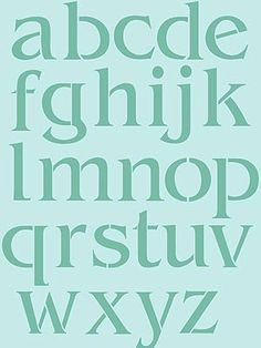 Large Letter Stencils Lower Case Letters Stencil