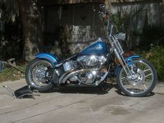 2005 Harley-Davidson SPRINGER Custom , Blue, 4,600 miles for sale in Tucson, AZ