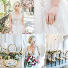 """""""Gothic Angel"""" the Fall 2015 Collection of ethereal and elegant vintage wedding dresses from the inimitable Queen of vintage bridal, Claire Pettibone......"""