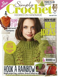 Simply Crochet 2016 Lost in Atlantis shawl Crochet Cable, Crochet Chart, Diy Crochet, Knitting Magazine, Crochet Magazine, Knitting Books, Crochet Books, Crochet Designs, Crochet Patterns