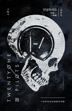 One of my favorite recent designs for Twenty One Pilots. Available at Hot Topic: http:& Twenty One Pilots Poster, Twenty One Pilots Wallpaper, Twenty One Pilots Aesthetic, Emo Wallpaper, Tyler Joseph, Skull Design, Skull Art, Cool Bands, Album Covers