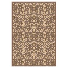 """Dynamic Rugs Piazza Rockwell Brown Indoor/Outdoor Area Rug Rug Size: 7'10"""" x 10'10"""""""