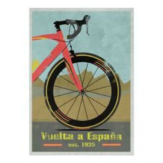 Vuelta a España Bike Posters - lifestylerstore - http://www.lifestylerstore.com/vuelta-a-espana-bike-posters/