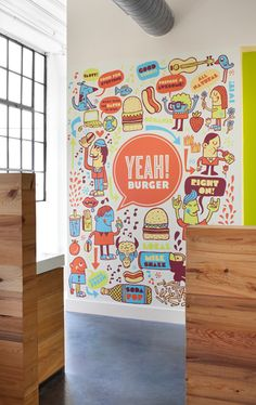 love this branding!! and yes, i so want to go to yeah! burger by tad carpenter