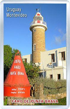 $3.29 - Acrylic Fridge Magnet: Uruguay. Montevideo. Punta Brava Lighthouse