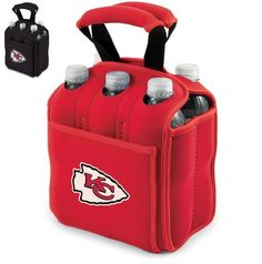 2014 Licensed AFC Kansas City Chiefs Beverage Six Pack Cooler Tote w Handles  #PicnicTime