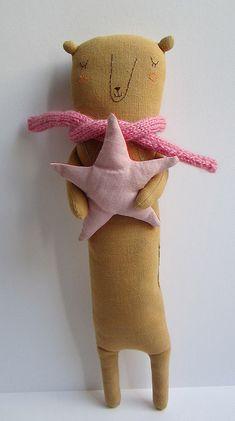 Adorable softie made by MarinaR. NO pattern, just for me to ogle over and inspire! xox